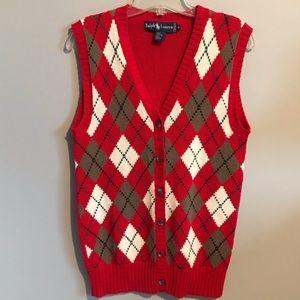 Ralph Lauren Argyle Sweater Vest